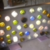 bottle wall WIP with lights